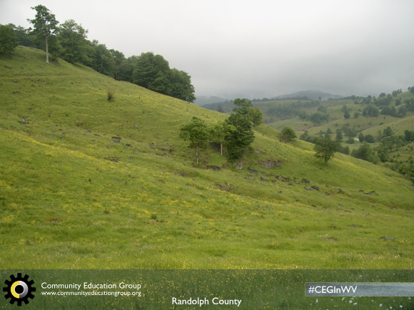 Rolling hills in Randolph County, West Virginia