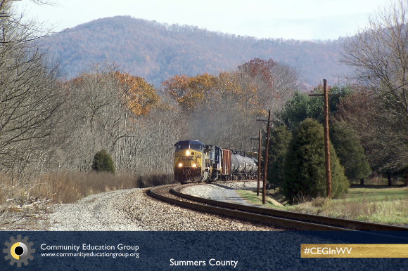 A train in Summers County, West Virginia