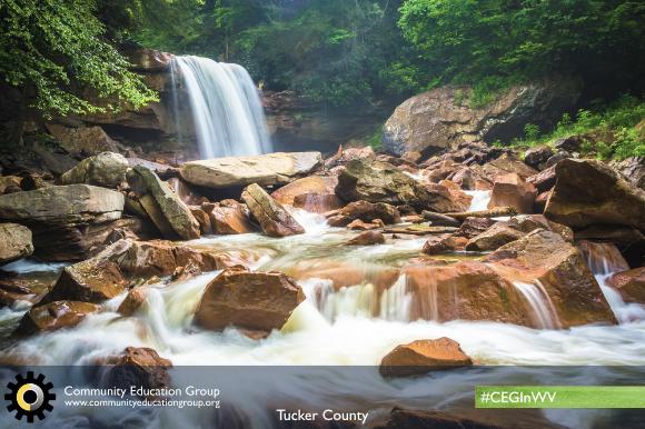 A waterfall in Tucker County, West Virginia