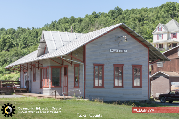 A postal building in Tucker County, West Virginia