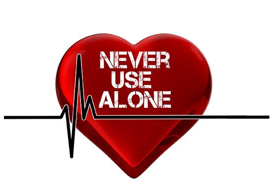 Never Use Alone Logo