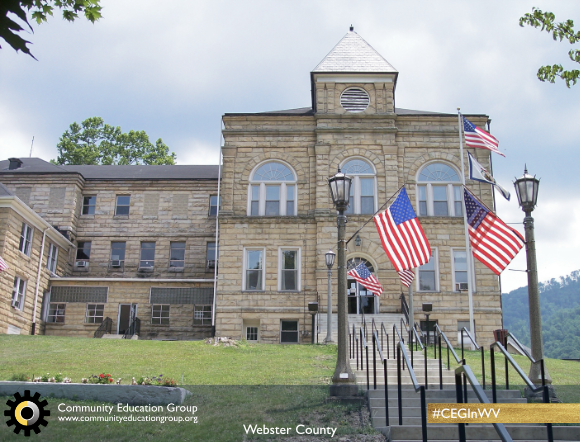 The Webster County Courthouse in Webster County, West Virginia