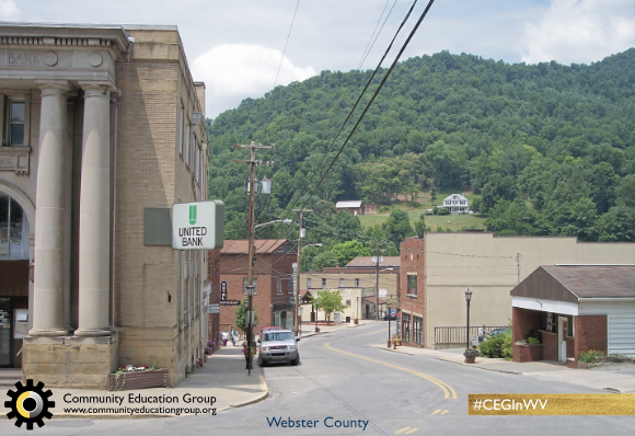 A small town in Webster County, West Virginia