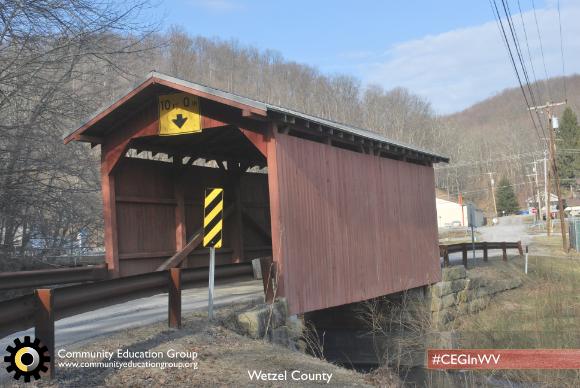 A covered bridge in Wetzel County, West Virginia