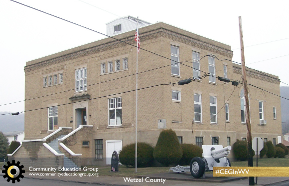 A large building in Wetzel County, West Virginia