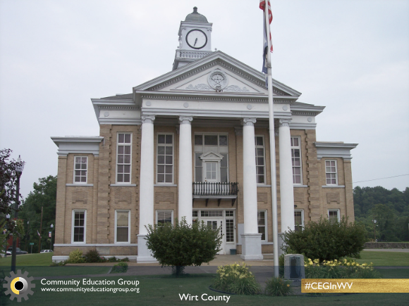 The Wirt County Courthouse in Wirt County, West Virginia