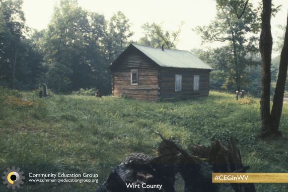 A log cabin in Wirt County, West Virginia